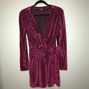 Small, Lulus velvet long sleeve dress